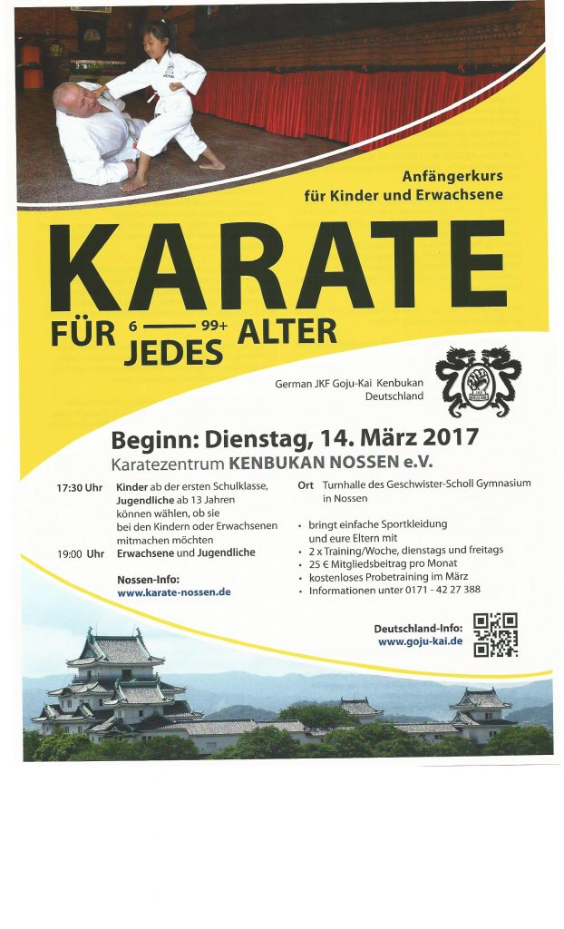 Anfängerkurs Karate Nossen