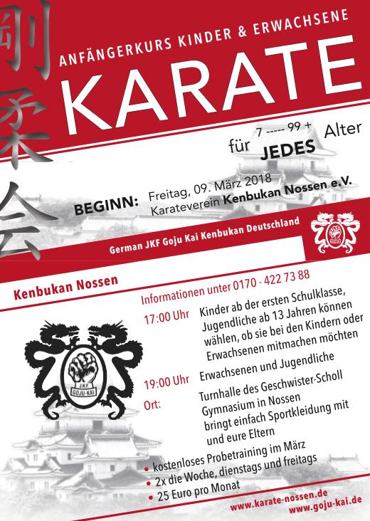 Karate Nossen Anfängerlehrgang